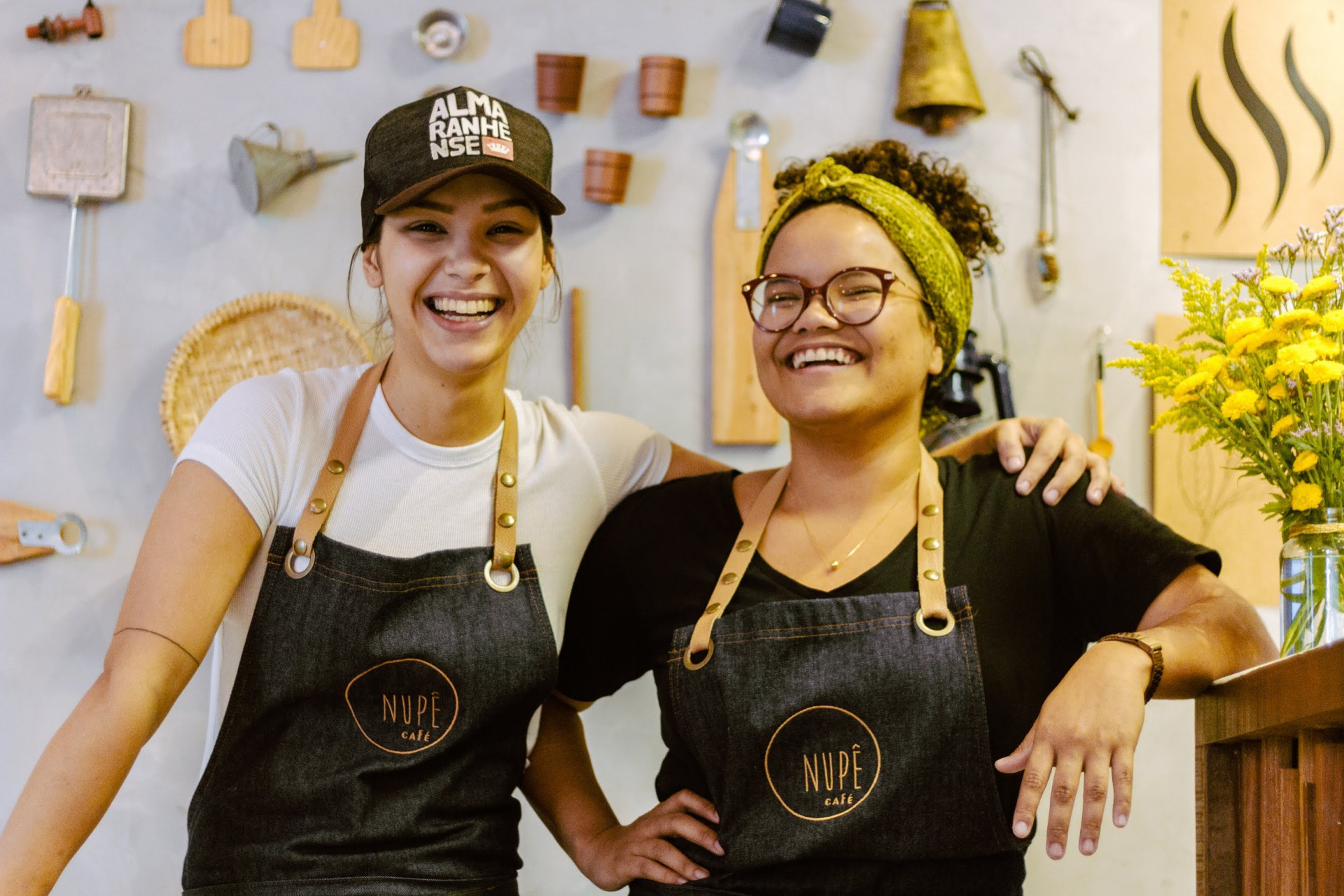As sócias fundadoras do Nupê Café, Bia e Laura
