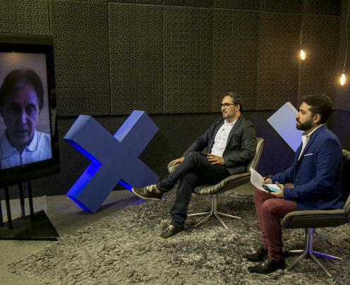 EUNÍCIO foi entrevistado ontem pelos jornalistas Ítalo Coriolano e Henrique Araújo(Foto: Aurelio Alves)