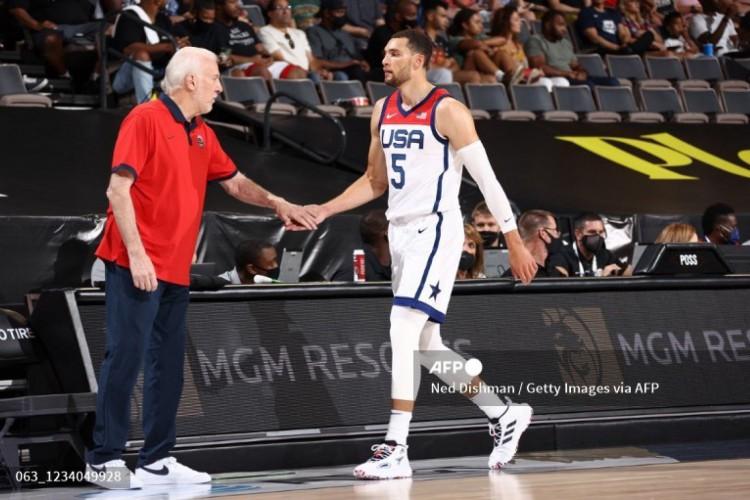 Zach Lavine entrou em protocolo de quarentena de prevenção contra a Covid-19 e não viajou com a seleção de basquete dos Estados Unidos para as Olimpíadas de Tóquio (Foto: Ned Dishman / NBAE / Getty Images / Getty Images via AFP)