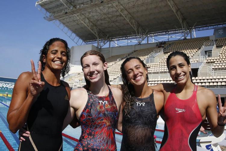 Seletiva Olimpica Brasileira de Natacao. Parque Aquatico Maria Lenk. 25 de abril de 2021, Rio de Janeiro, RJ, Brasil. Foto: Satiro Sodré/SSPress/CBDA (Foto: Satiro Sodré/SSPress/CBDA)