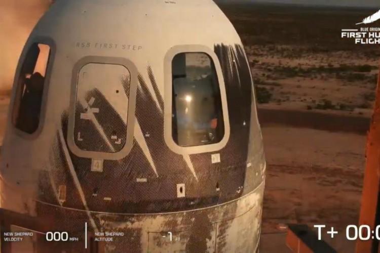 Transmissão ao vivo; Bilionário Bezos decola hoje com Blue Origin. (Foto: Reprodução/Youtube)
