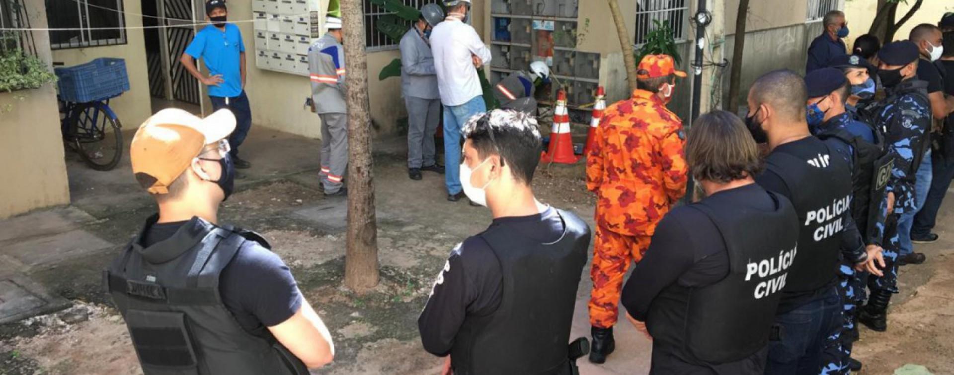 Operação policial em Fortaleza (Foto: WhatsApp)