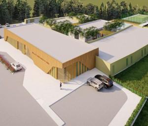 Imagem mostra como será área externa do hospital