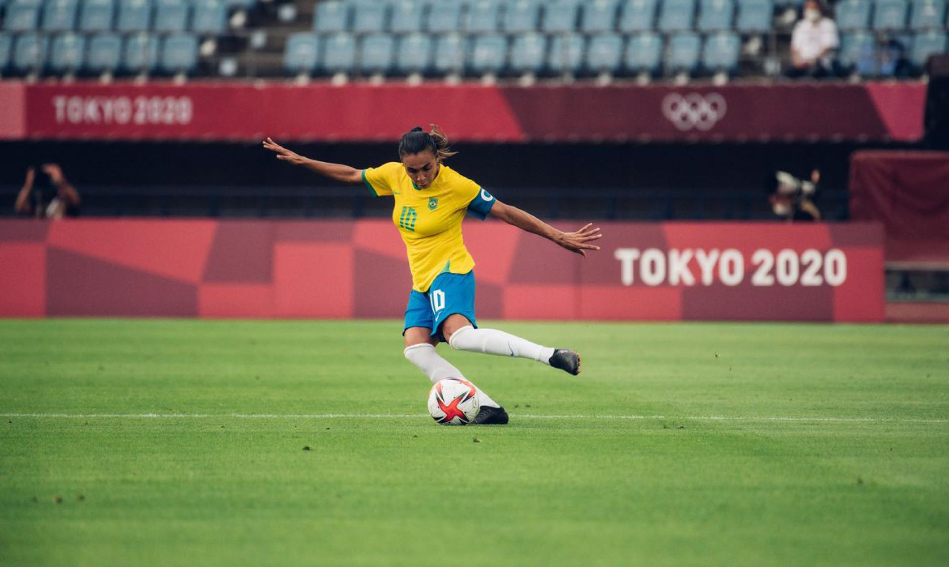 """Atuação de Marta ganha reverência de Pelé: """"mais que uma jogadora"""" (Foto: SAM ROBLES)"""