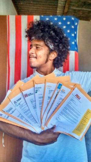 O jovem decidiu que vai estudar na universidade de Los Angeles (Foto: Arquivo Pessoal)