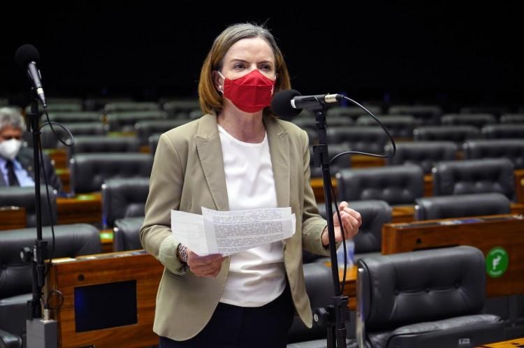 Dep. Gleisi Hoffmann (PT - PR)(Foto: Pablo Valadares/Câmara dos Depu)