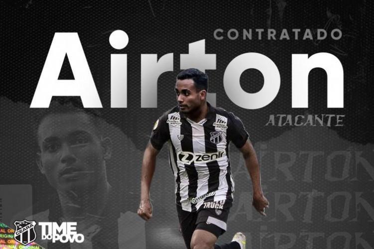 Atacante Airton tem 22 anos e joga pelos lados  (Foto: Divulgação/Ceará )