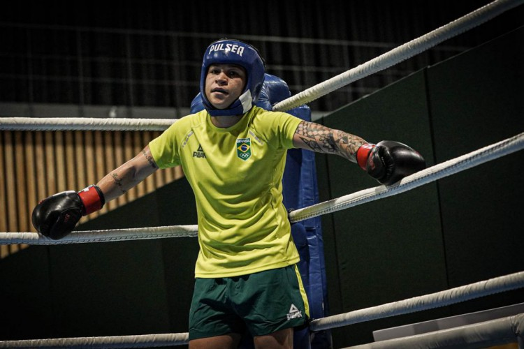 12.07.2021 Jogos Olímpicos Tóquio 2020 - Base de Ota. Na foto: Beatriz Ferreira durante treino. (Foto: Rafael Bello/COB)