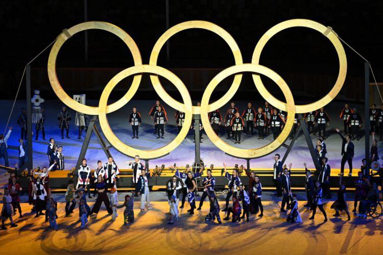 Cerimônia de abertura da Olimpíada de Tóquio  (Foto: Dylan MARTINEZ / POOL / AFP)