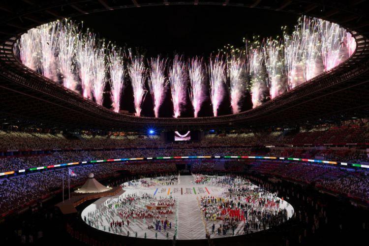 Cerimônia de abertura da Olimpíada de Tóquio (Foto: Martin BUREAU / AFP)