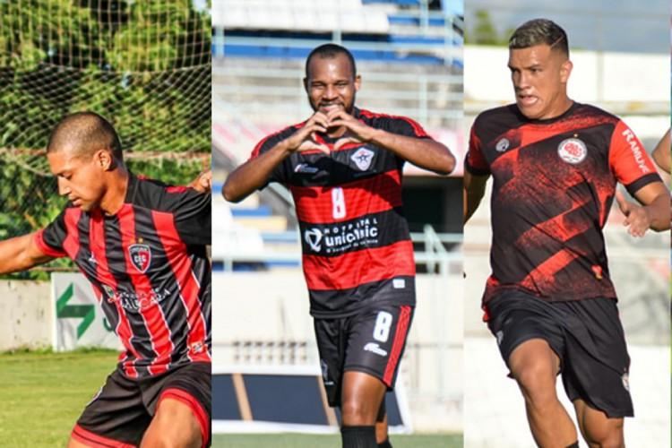 Caucaia, Atlético-CE e Guarany atuam neste final de semana pela Série D (Foto: Montagem das fotos: Kely Pereira FC Atlétice-CE/Divulgação Caucaia e Guarany)