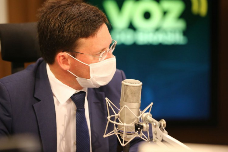 Ministro da Cidadania, Joao Roma, participa do programa A Voz do Brasil (Foto: JULIO DUTRA)