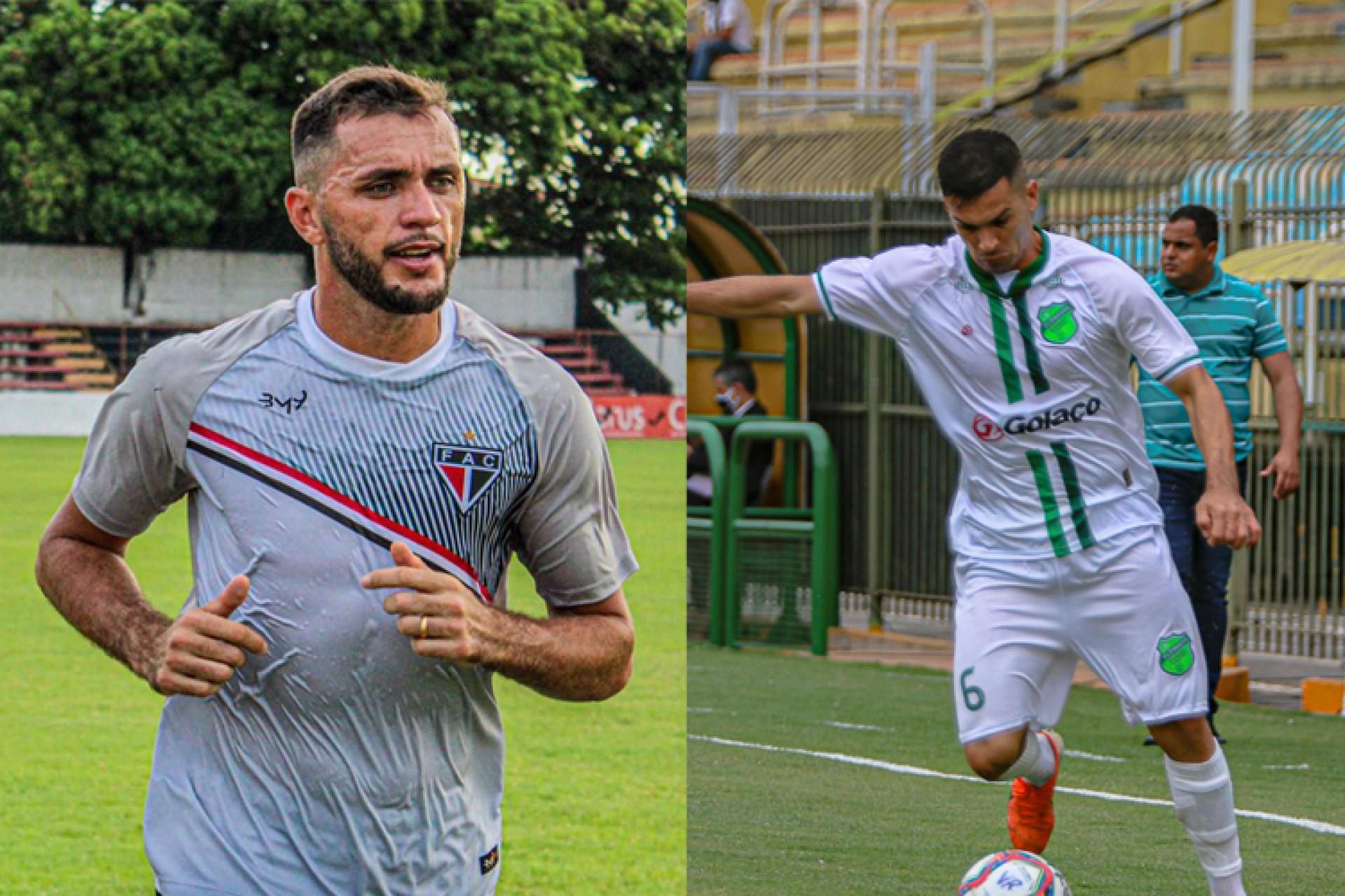 Ferroviário e Floresta se enfrentam hoje pela Série C (Foto: Lenilson Santos/Ferroviário AC e Ronaldo ASCOM/Floresta EC)