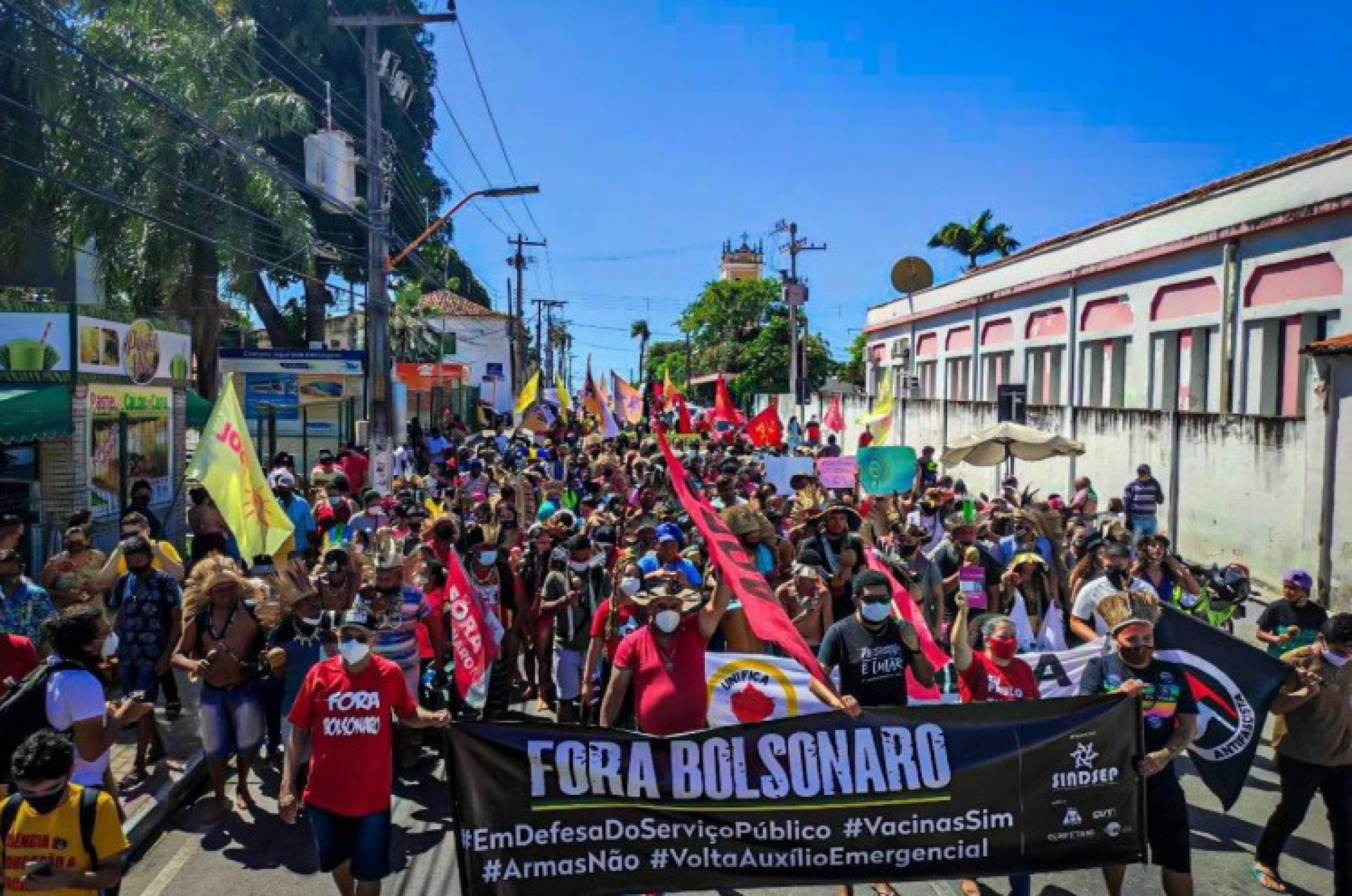 Manifestação contra o governo Bolsonaro em Caucaia (Foto: DIVULGAÇÃO)