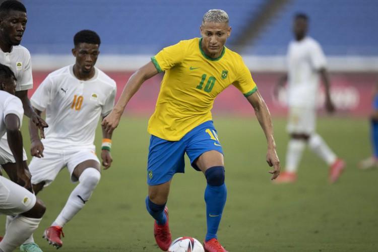 Olimpíada: Brasil empata com Costa do Marfim no futebol masculino (Foto: Lucas Figueiredo/CBF)