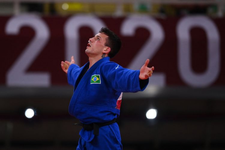 Daniel Cargnin conquistou a medalha de bronze (Foto: Franck FIFE / AFP)