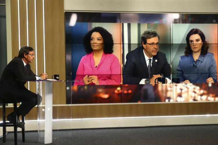 O ministro do Turismo, Gilson Machado, participa do programa Sem Censura. (Foto: Marcelo Camargo/Agência Brasil)