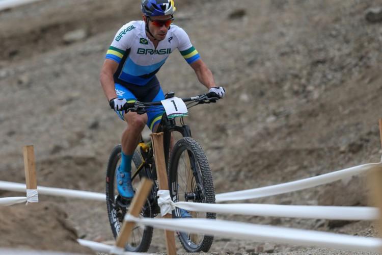 Henrique Avancini era esperança de medalha brasileira no ciclismo, na Olimpíada de Tóquio; na final do mountain bike, ele ficou em 13º lugar, apesar de ter liderado o começo da corrida (Foto: Abelardo Mendes Jr/Rede do Esporte)