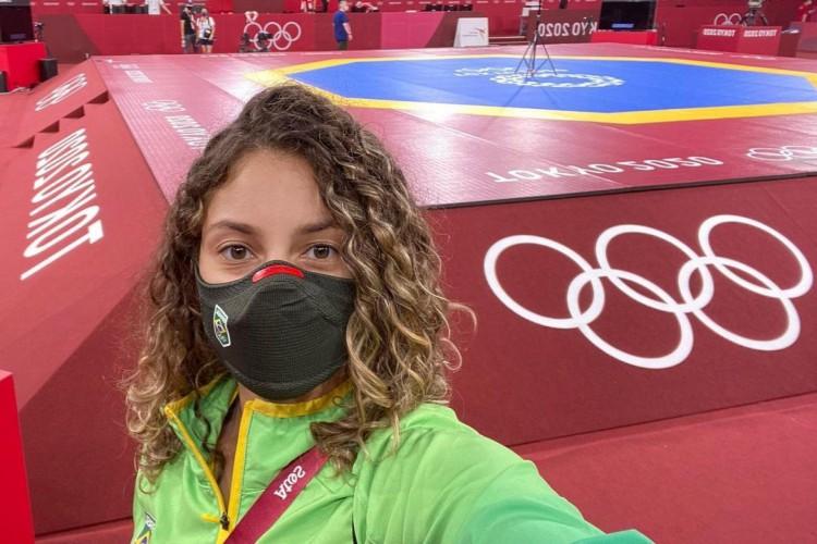 Milena Titoneli perdeu nas quartas de final, nas Olimpíadas de Tóquio para a croata Matea Jelic; caso a adversária chegue à final, ela pode tentar o bronze no Taekwondo na repescagem (Foto: Reprodução/Instagram)