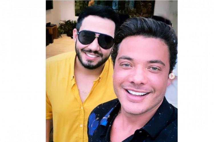 André Vitor e Wesley Safadão são amigos e se conhecem há pelo menos sete anos. (Foto: Acervo Pessoal)