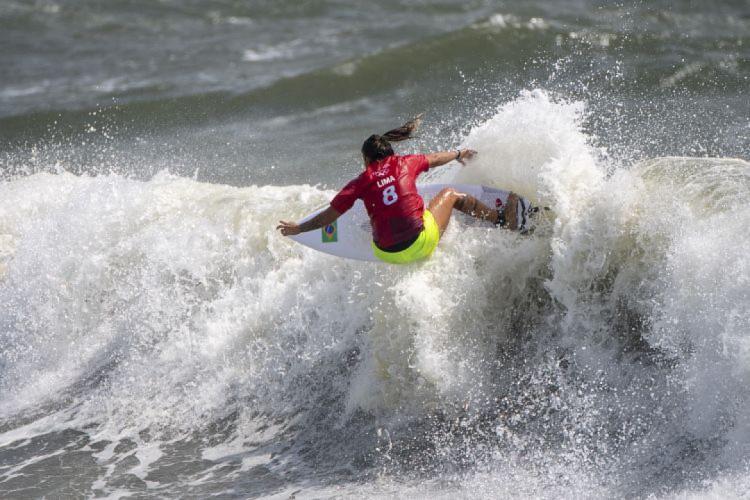 Cearense Silvana Lima está classificada para as quartas de final na Olimpíada de Tóquio (Foto: Olivier MORIN / AFP)