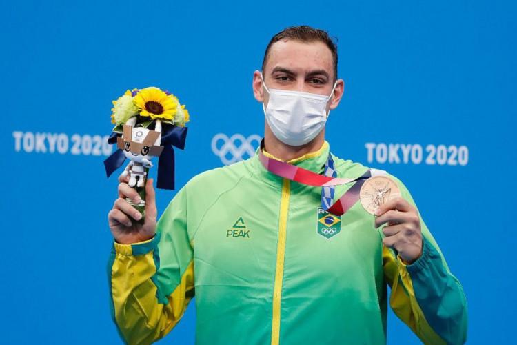 Olimpíada: Fernando Scheffer fatura bronze na natação (Foto: )
