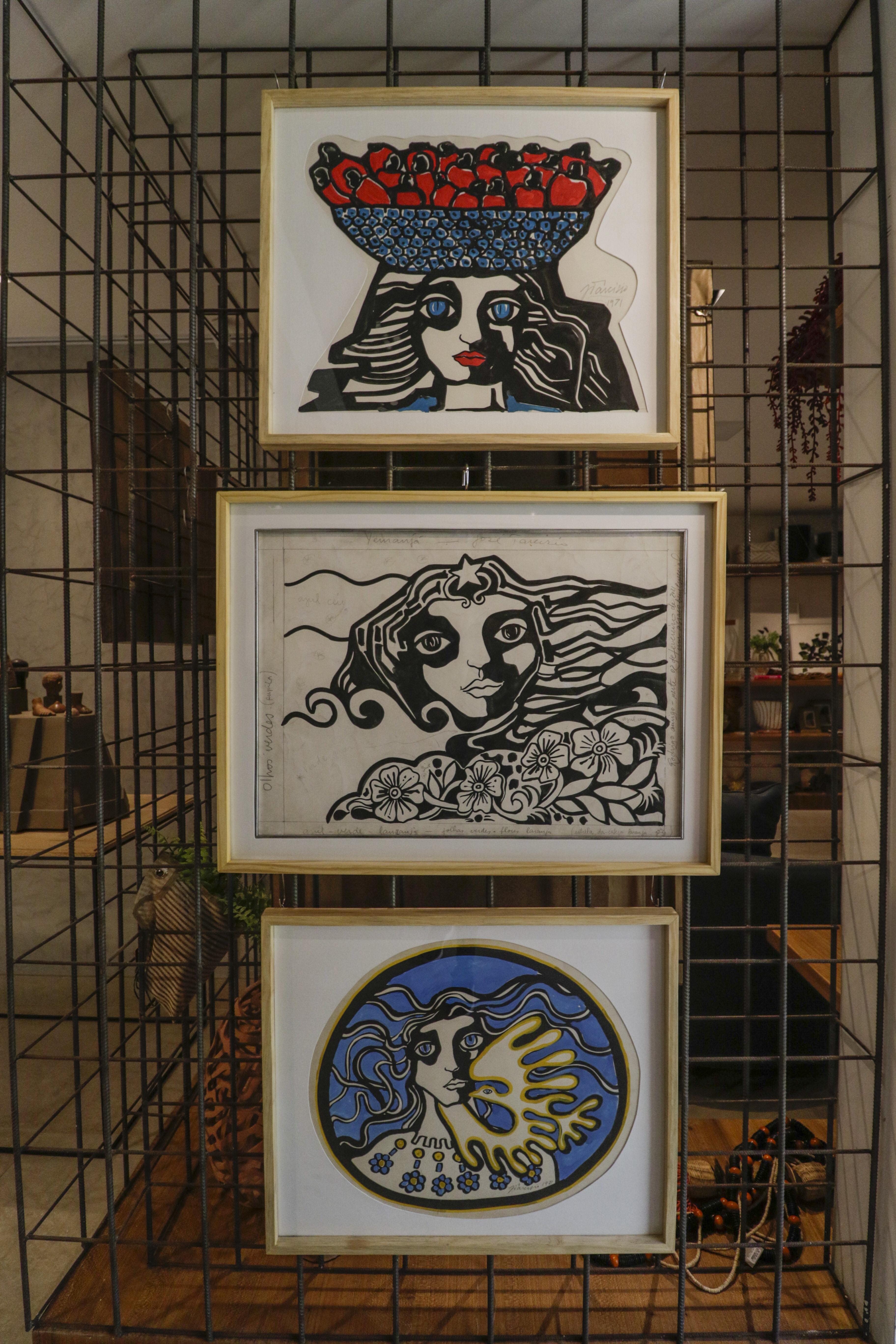 (Foto: Thais Mesquita)FORTALEZA, CE, BRASIL, 26.07.2021: Exposição do Artista Ze Tarcísio na Sculpt Galeria. A galeria fica dentro da loja de decoração Spazio, localizada na Rua Paula Ney, no bairro Aldeota. Obra em serigrafia (Thais Mesquita/OPOVO)