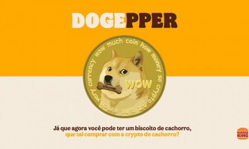 Campanha de venda do Dogpper com o Dogecoin