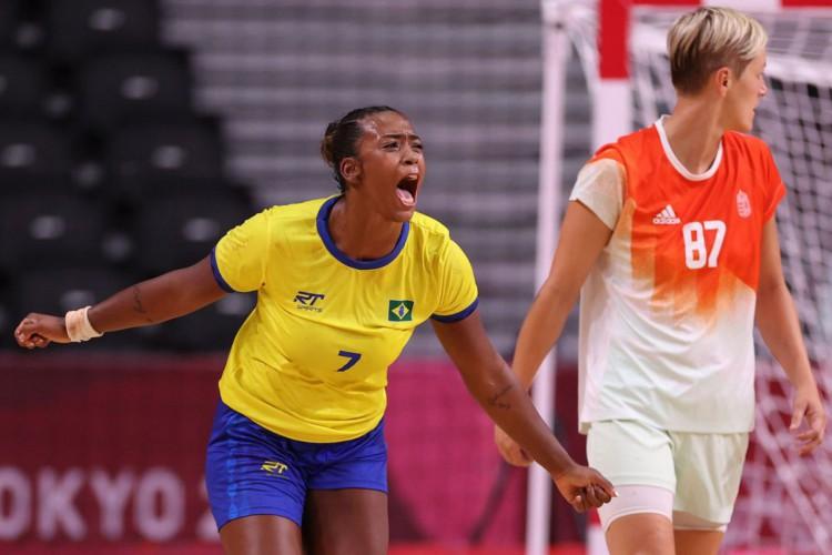 Handebol: seleção feminina derrota Hungria nos Jogos de Tóquio (Foto: )