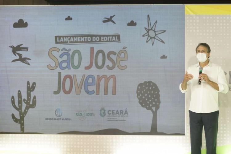 Camilo Santana lançou o edital do Projeto São José Jovem, nesta terça-feira, 27, por meio de transmissão ao vivo nas redes sociais do governo. (Foto: Divulgação/Secretaria de Desenvolvimento Agrário)