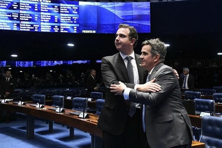 Pacheco cumprimenta Ciro Nogueira no Twitter e deseja 'boa sorte' na Casa Civil (Foto: Agência Senado)