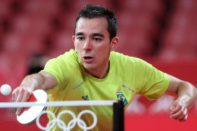 Histórico: Calderano põe Brasil nas quartas do tênis de mesa em Tóquio (Foto: )