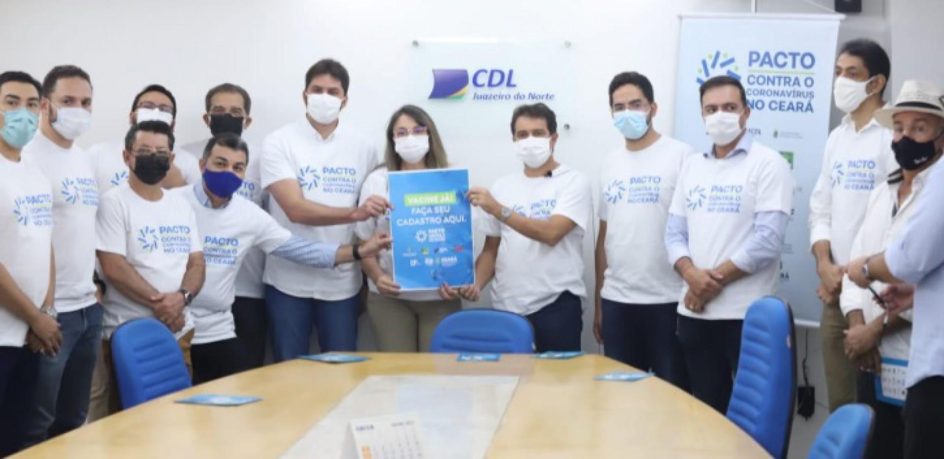 Pacto Contra o Coronavírus esteve hoje no Cariri (Foto: DIVULGAÇÃO)