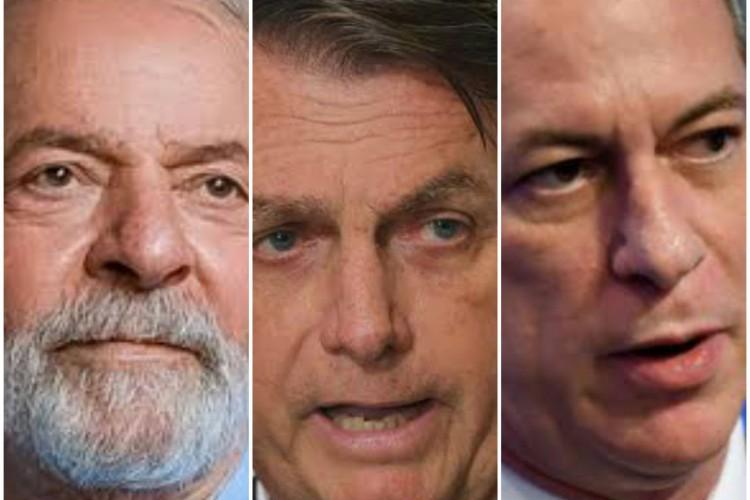 Lula, Bolsonaro e Ciro são os três nomes mais bem colocados (Foto: REPRODUÇÃO )