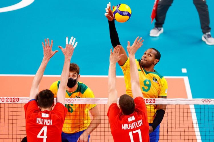 Jogos: Brasil perde para o Comitê Russo no vôlei masculino (Foto: )