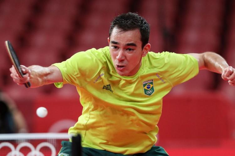 Tóquio: Calderano é eliminado nas quartas de final do tênis de mesa (Foto: )