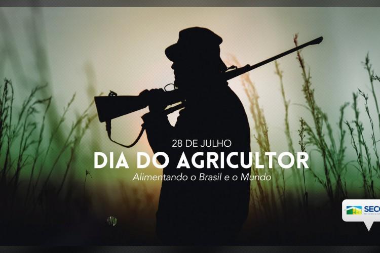 Secom divulga foto de homem armado no campo para parabenizar pelo Dia do Agricultor (Foto: Reprodução/Twitter)