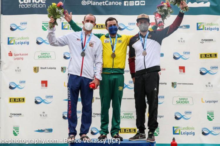 Pepê Gonçalves passou à semifinal da canoagem slalom K-1 na Olimpíada de Tóquio (Foto: Bence Vekassy/ICF)
