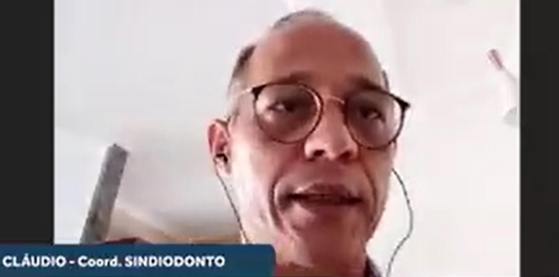 Cláudio Nascimento é coordenador do Sindiodonto (Foto: REPRODUÇÃO)