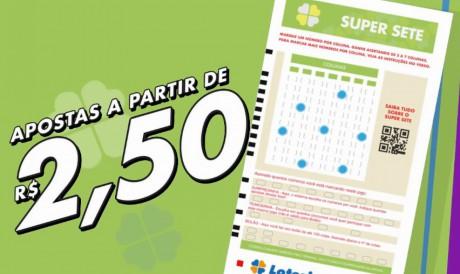 O resultado da Super Sete, Concurso 124, foi divulgado hoje, sexta, 30 de julho (30/07). O prêmio da loteria está acumulado em R$ 1,8 milhão; saiba como apostar