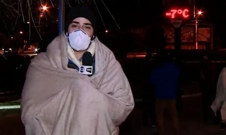 O repórter está na serra catarinense para realizar a cobertura da temporada de frio.