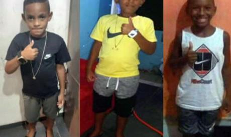 Os três meninos desapareceram dia 27 de dezembro de 2020