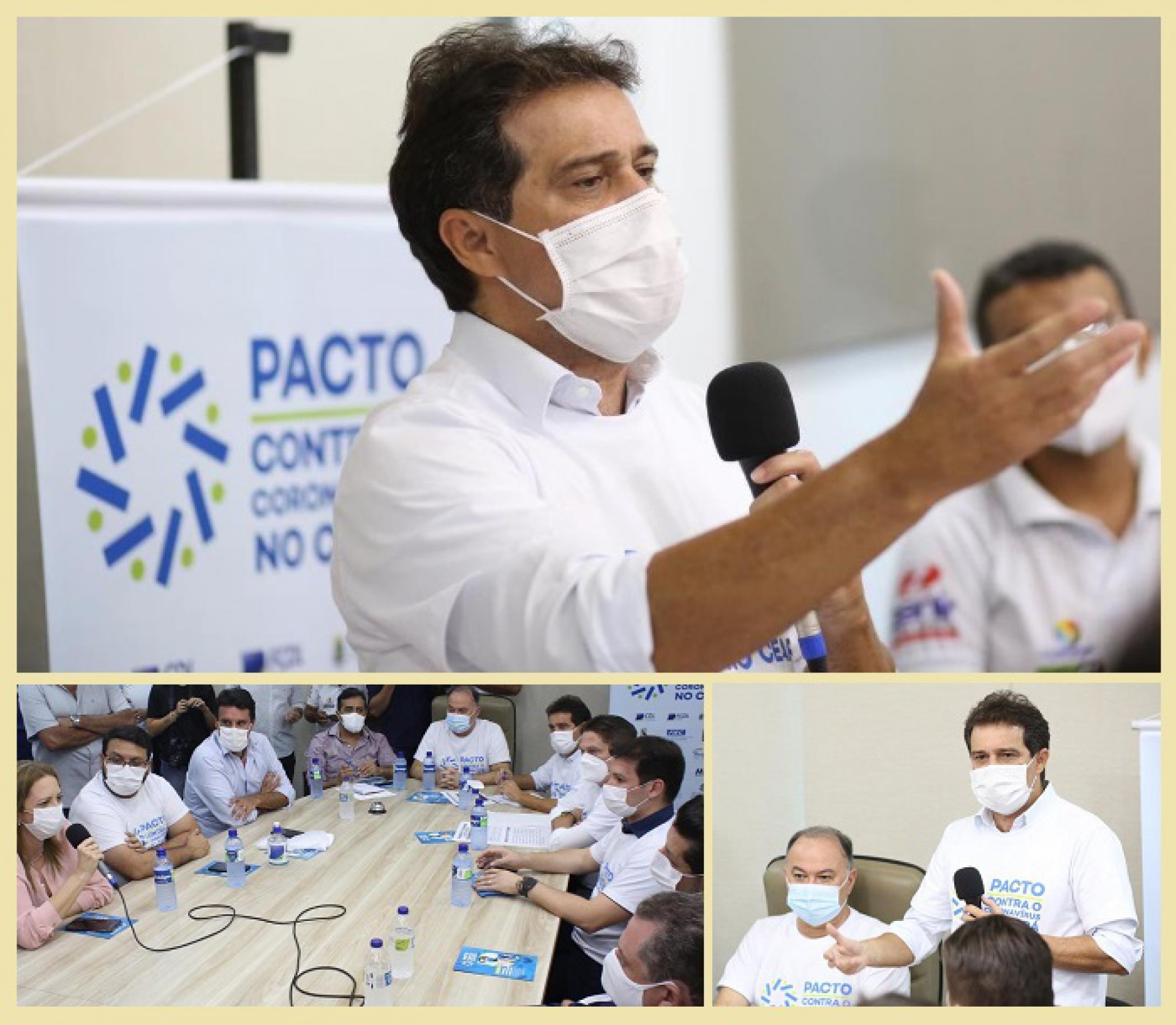 Pacto Contra o Coronavírus este nesta quinta-feira em Quixeramobim e Iguatu (Foto: DIVULGAÇÃO)