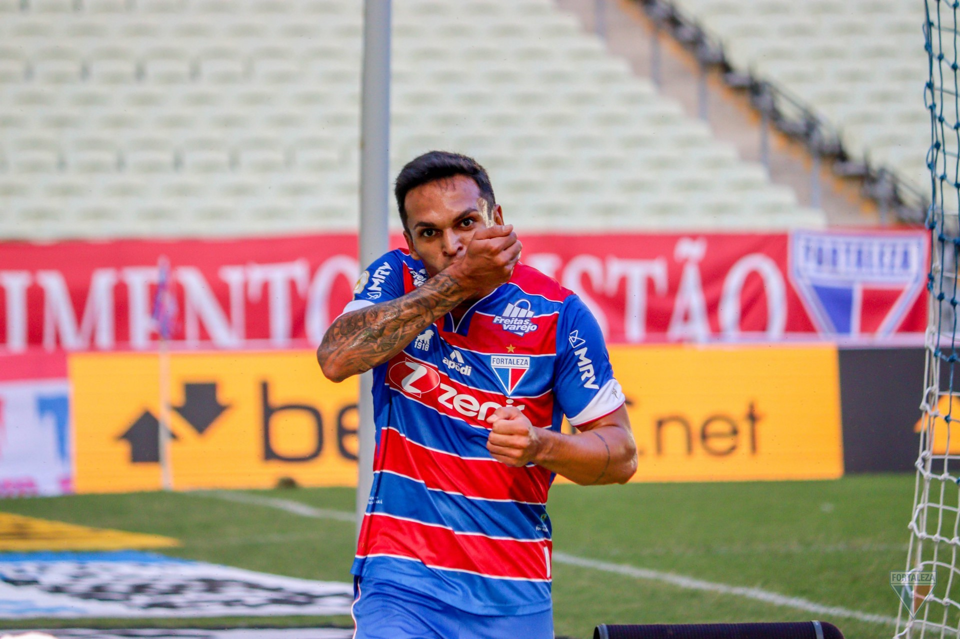 Robson marcou nos três jogos mais recentes do Fortaleza pela Série A (Foto: Leonardo Moreira /FortalezaEC)