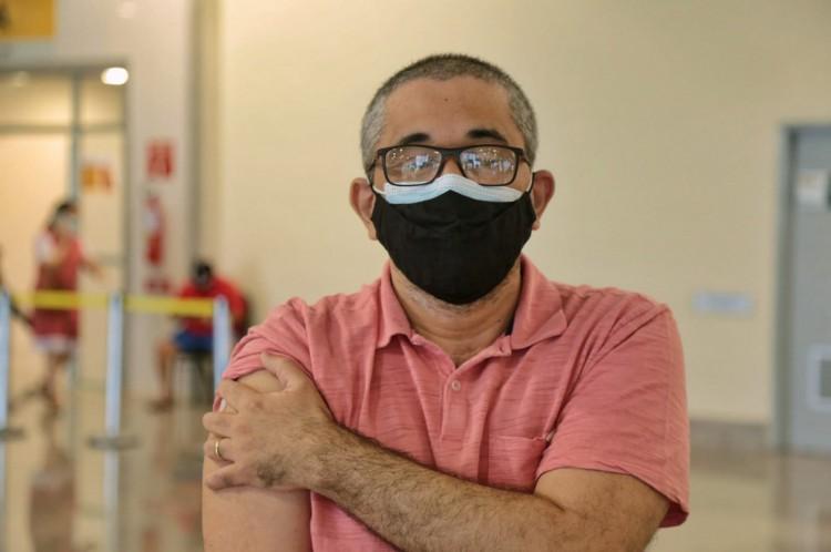 FORTALEZA, CE, BRASIL, 31-07.2021: Centro de Eventos, Aplicação de segunda dose da vacina contra a Covid-19. (Foto:Aurelio Alves/ Jornal O POVO)