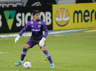 Richard, do Ceará, é o goleiro com a maior porcentagem de jogos sem sofrer gols no Brasileirão.
