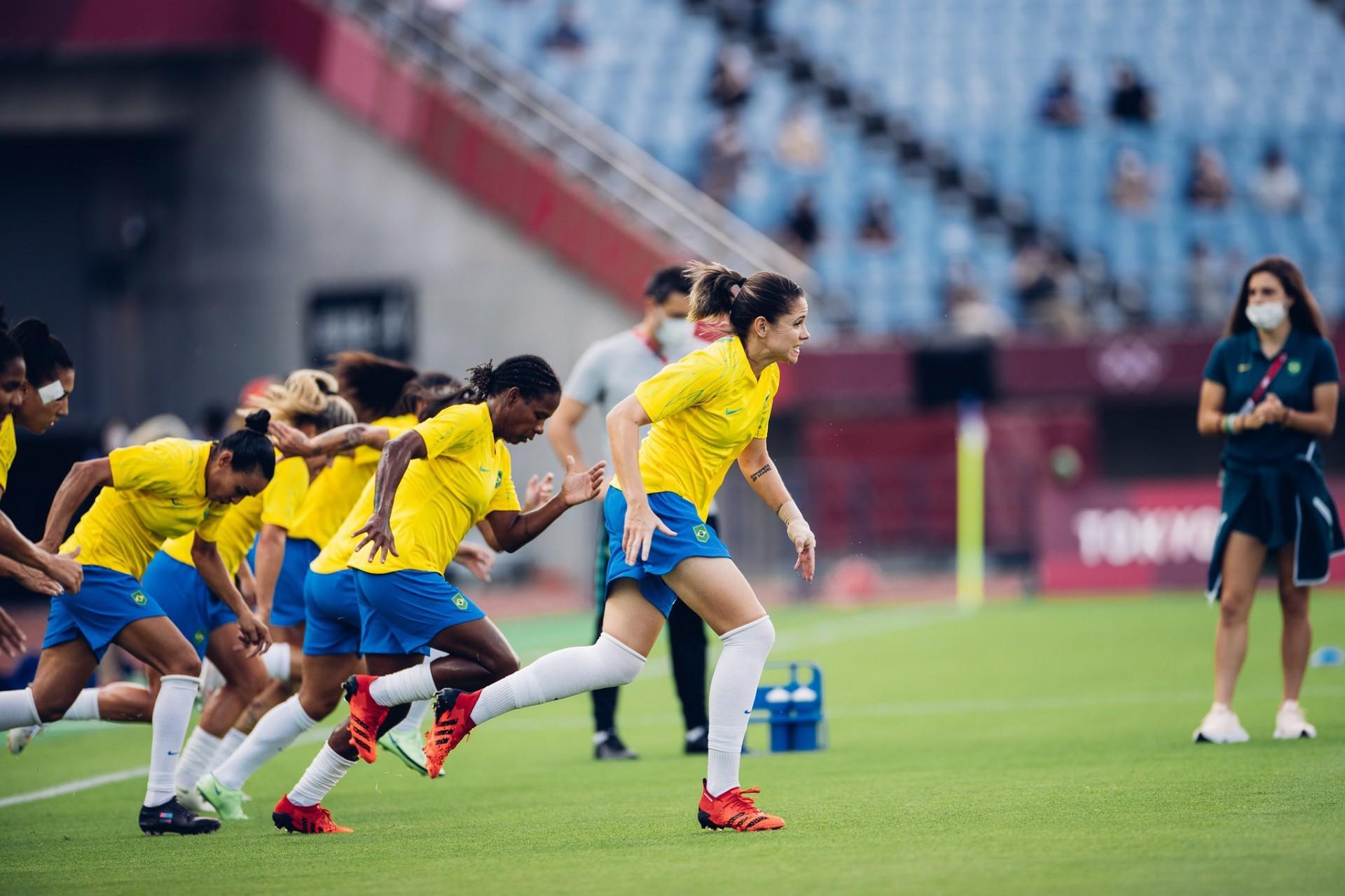 Seleção feminina foi eliminada das Olimpíadas após disputa de pênaltis contra o Canadá.  (Foto: Sam Robles/CBF)