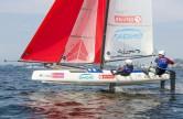 Dupla brasileira Samuel Albrecht e Gabriela Nicolino ficou em último entre os finalistas da vela categoria Nacra na Olimpíada de Tóquio