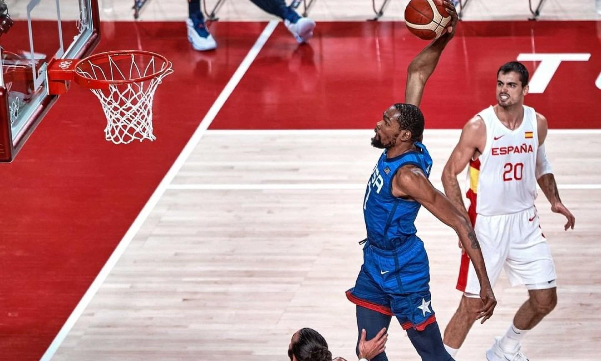 Seleção de basquete masculino dos Estados Unidos venceu Espanha e segue para semifinal da Olimpíada de Tóquio