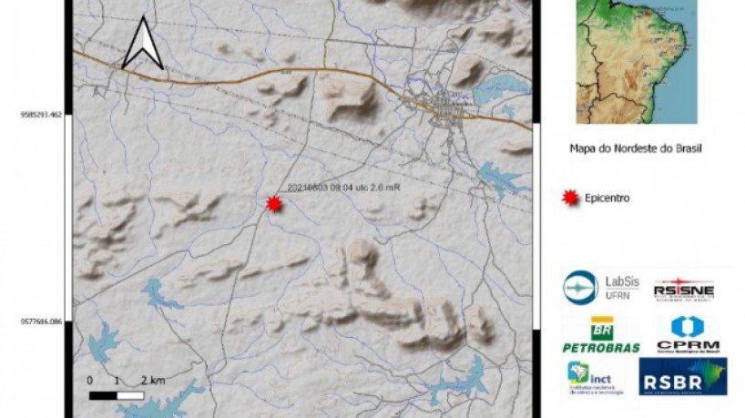Tremor de terra de magnitude 2.6 mR atingiu o município de Irauçuba, no Ceará. Esse é o quinto evento que atinge o Estado em um mês(foto: LabSiS/UFRN)